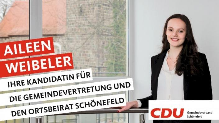 Ihre Kandidaten stellen sich vor: Heute Aileen Weibeler