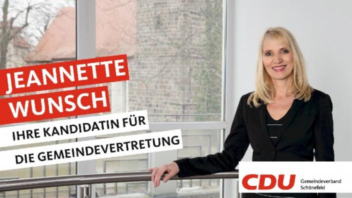 Ihre Kandidaten stellen sich vor: Heute Jeannette Wunsch