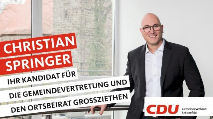 Ihre Kandidaten stellen sich vor: Heute Christian Springer