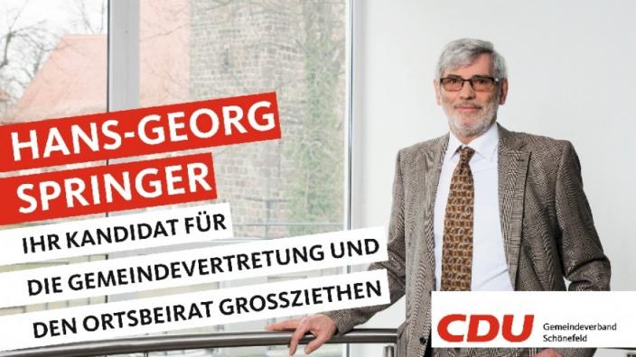 Ihre Kandidaten stellen sich vor: Heute Hans-Georg Springer